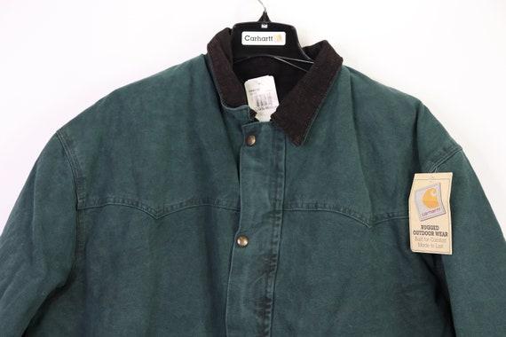 90s New Carhartt Mens Lined Corduroy Collar Chore… - image 2