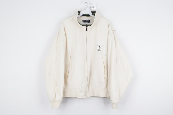 90s Nautica Spell Out Golf Full Zip Lined Windbrea
