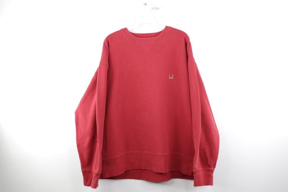 90s Tommy Hilfiger Distressed Faded Crewneck Sweat