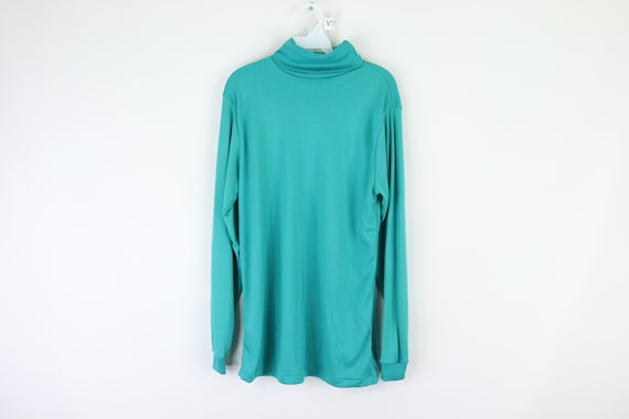 80s LL Bean Thermax Polyester Turtleneck Sweater T