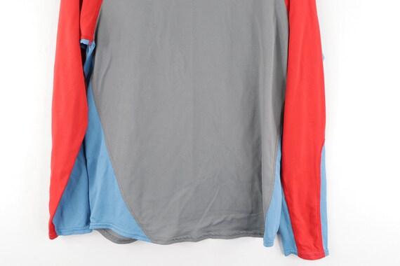 90s Nike Mini Center Swoosh Color Block Long Slee… - image 3
