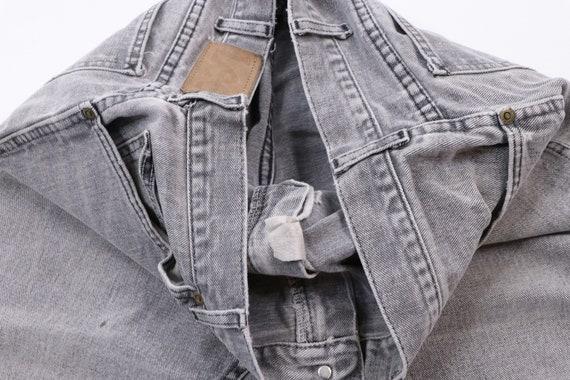 70s Lee Streetwear Distressed Denim Jeans Black T… - image 8