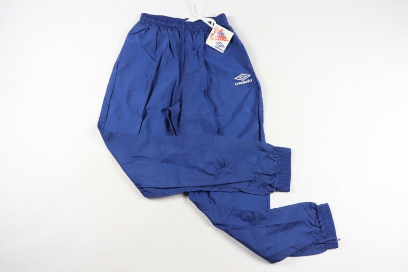 61bf7b91808 80s New Umbro Soccer Spell Out Nylon Joggers Jogger Pants Mens | Etsy