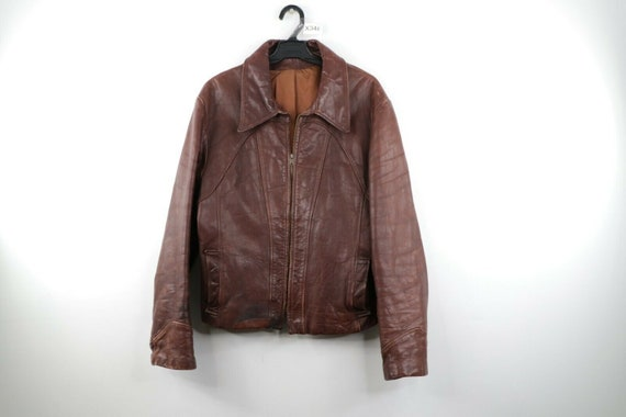 50s Distressed Horsehide Leather Bomber Jacket Bro