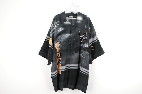90s Streetwear Anime Print Asian All Over Print Bu