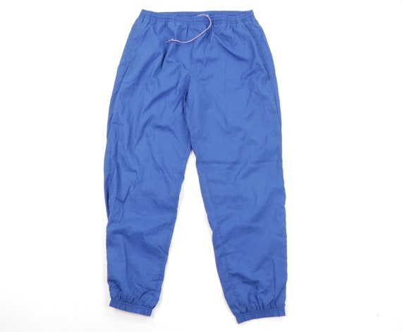 90s Reebok Stitched Spell Out Lined Nylon Joggers