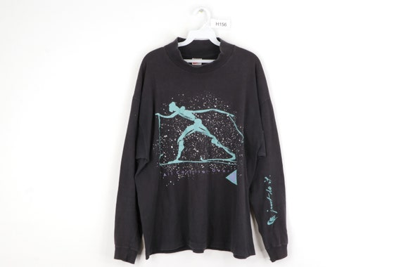 90s Nike ACG Spell Out Abstract Skiing Mock Neck L