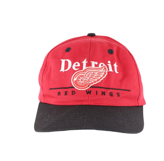 90s Detroit Red Wings NHL Hockey Spell Out Snapbac