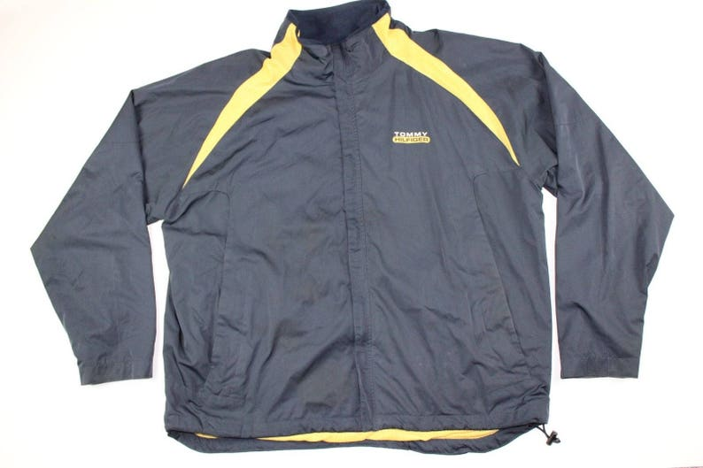 0553afb9ae98c 90s Tommy Hilfiger Spell Out Full Zip Polyester Windbreaker