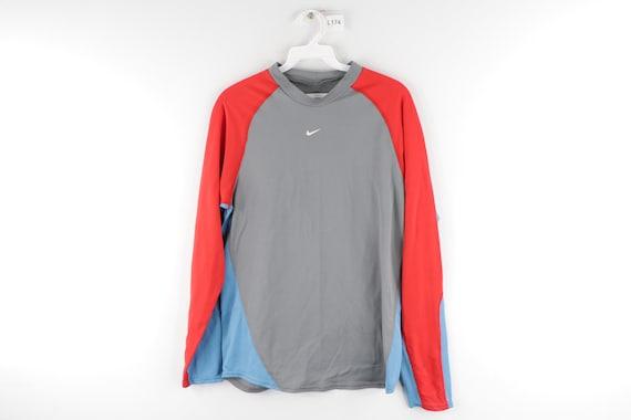 90s Nike Mini Center Swoosh Color Block Long Sleev