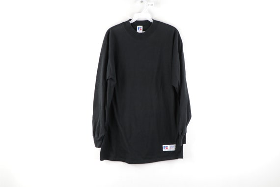 90s Russell Athletic Faded Blank Mock Neck Long Sl