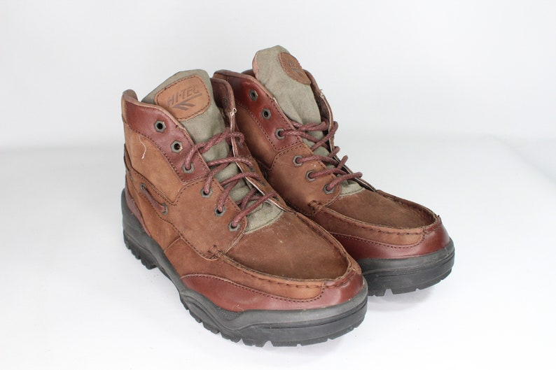 91b7ffe8246 Vintage New Hi-Tec Mens 9 Leather Tecproof Waterproof Hiking Boots Brown,  90s Hiking Boots, Hi-Tec Hiking Boots, 90s Boots, Vintage Boots,