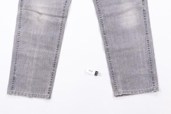 70s Lee Streetwear Distressed Denim Jeans Black T… - image 4