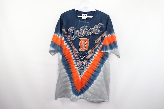 90s Majestic Detroit Tigers MLB Baseball Tie Dye S