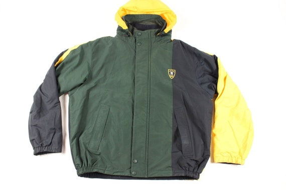 90s Nautica Spell Out Color Block Reversible Hoode