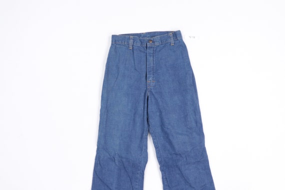 70s Streetwear Distressed Wide Leg Flared Denim J… - image 2