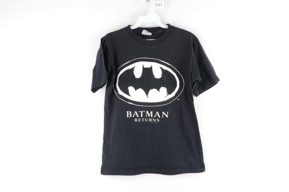 90s Batman Returns Bat Logo Spell Out Distressed S