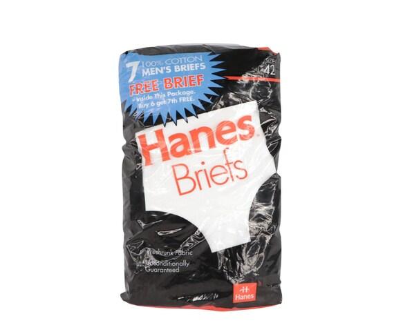 90s New Deadstock Hanes Pack of 7 Briefs Underwear