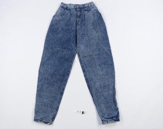 90s Streetwear Tapered Leg Roll Cuff Acid Wash Jea