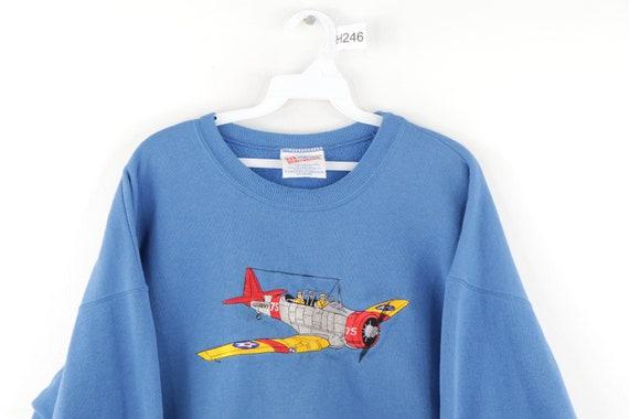 90s Streetwear Stitched US Naval B 75 Airplane Sw… - image 2