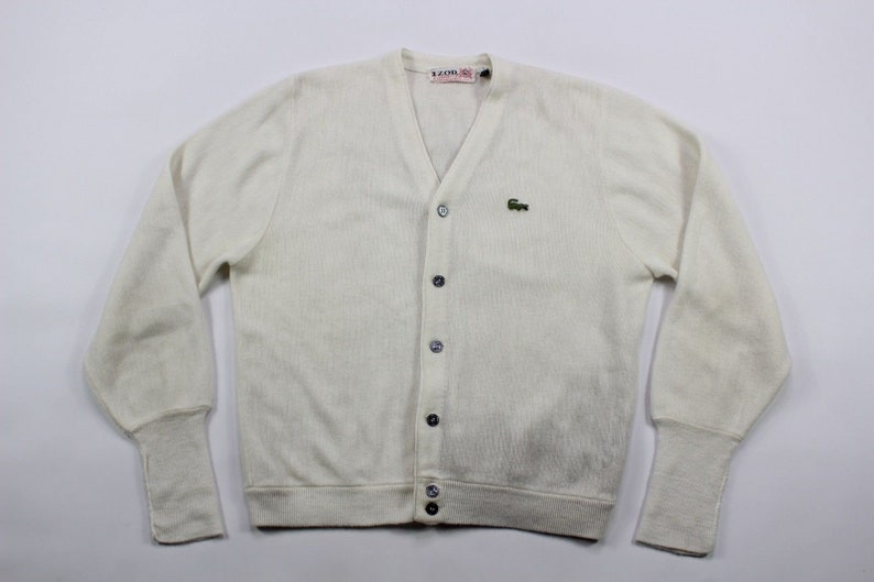 886df8bdc2dac 70s Izod Of London Lacoste Long Sleeve Button Cardigan Sweater