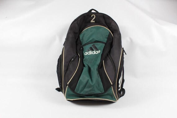 091c9fbdd2 90s Adidas Big Logo Spell Out Soccer Ball Holder Backpack Book