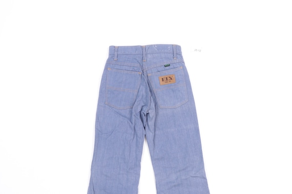 70s High Rise Flared Bell Bottom Denim Jeans Blue… - image 8