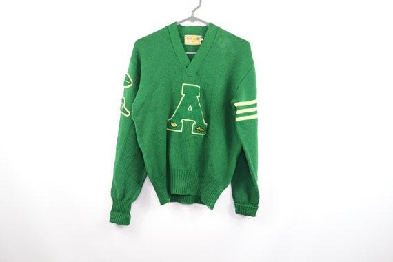 50s Mens Size 42 Lamb Knit Pure Wool 1958 Varsity… - image 1