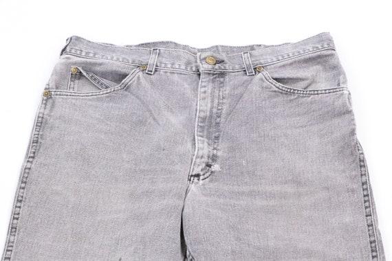 70s Lee Streetwear Distressed Denim Jeans Black T… - image 2