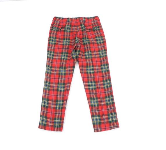 80s Streetwear Scottish Tartan Wool Plaid Golfing… - image 6