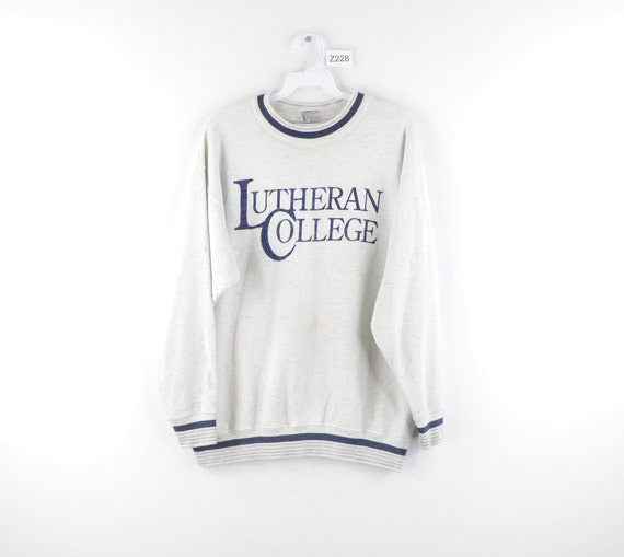 90s Lutheran College Distressed Spell Out Sweatshi