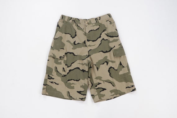90s Streetwear Baggy Camouflage Military Cargo Sho