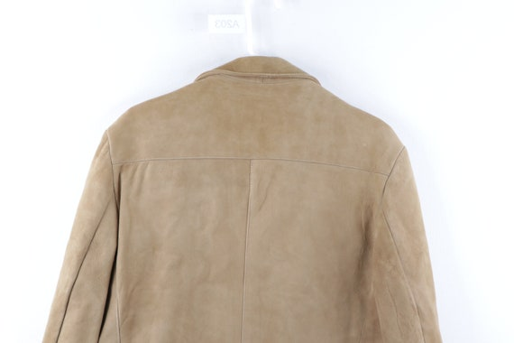 70s Rockabilly Lined DuPont Quilon Suede Leather … - image 9