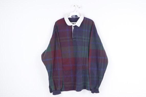 90s Ralph Lauren Multi-Color Plaid Long Sleeve Rug