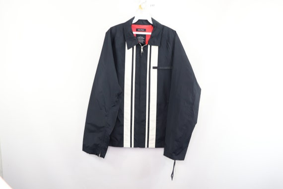 New 90s Nautica Spell Out Striped Cafe Racer Bombe
