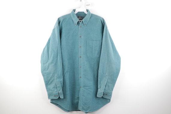 90s Woolrich Distressed Faded Chamois Cloth Button