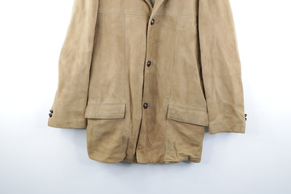70s Rockabilly Lined DuPont Quilon Suede Leather … - image 3