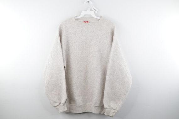 80s Streetwear Long Sleeve Blank Crewneck Sweatshi