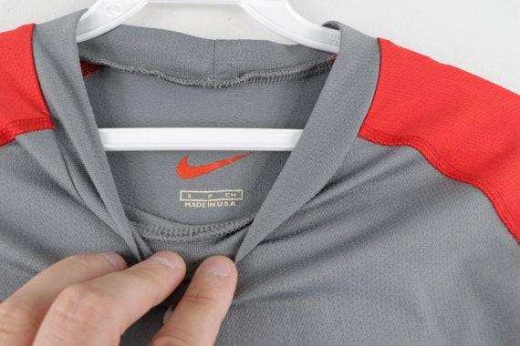 90s Nike Mini Center Swoosh Color Block Long Slee… - image 4