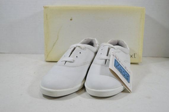 c70fdef732b Vintage 90s Keds Champion Walker Lace Up Shoes Womens White