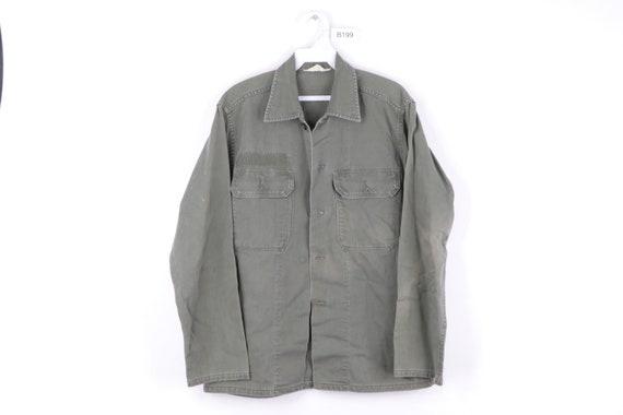 60s Streetwear Sanforized Cotton Field Military Sh
