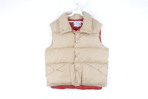 70s Down Filled Full Button Outdoor Puffer Vest Ja