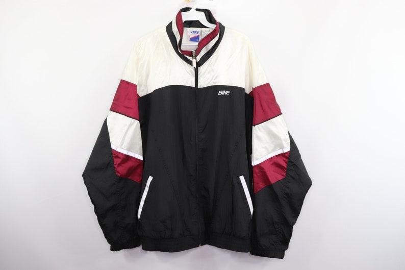 59893026eeb62 90s Bike Spell Out Color Block Nylon Lined Full Zip Windbreaker Jacket Mens  Large, Vintage Color Block Jacket, 1990s Windbreaker Jacket Mens