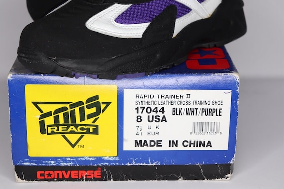 90s New Converse Cons React Rapid Trainer II Athl… - image 4