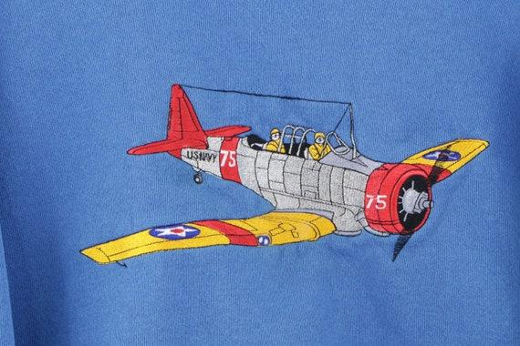 90s Streetwear Stitched US Naval B 75 Airplane Sw… - image 4