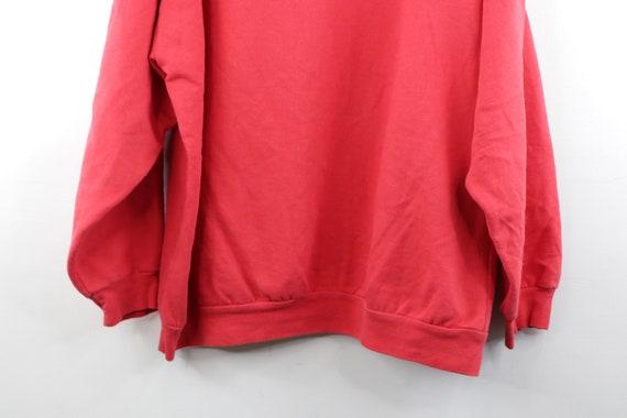90s Streetwear Distressed Faded Blank Hoodie Swea… - image 7