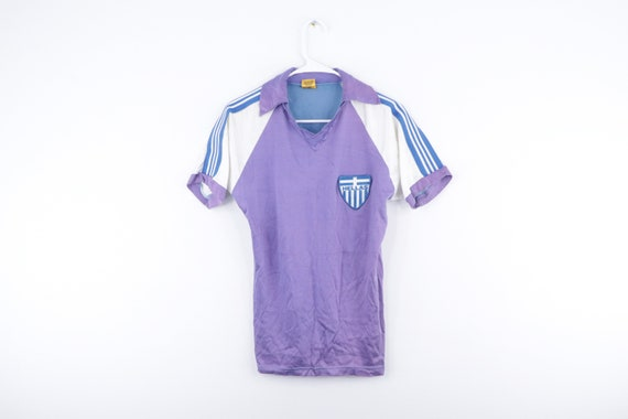 NOS 80s Greece Hellas Patch Collared Soccer Jersey
