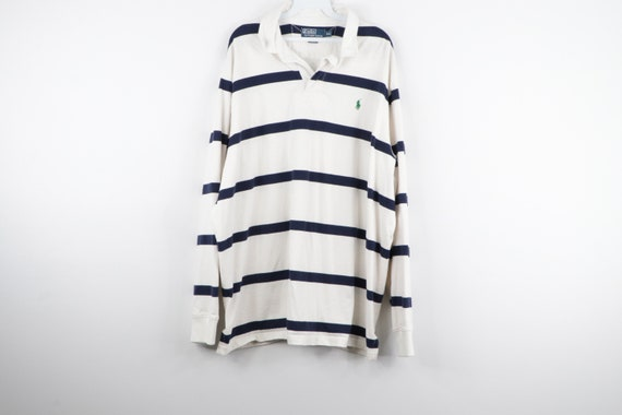 90 Polo Ralph Lauren Long Sleeve Striped Rugby Shi