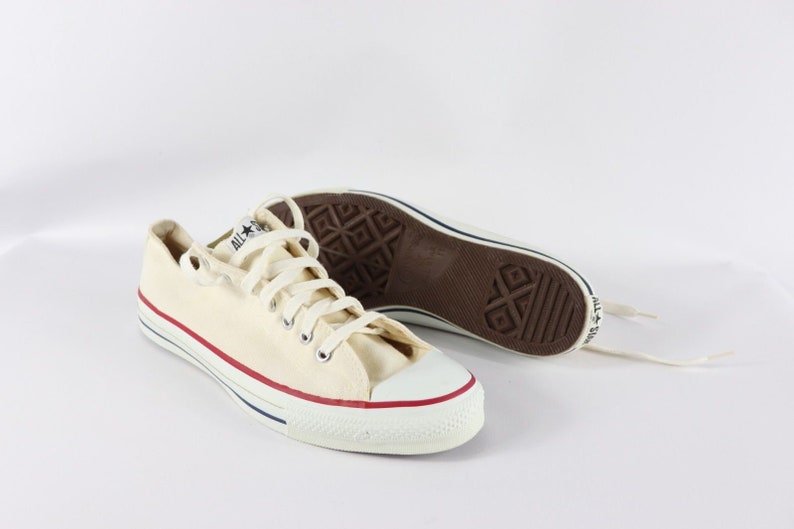 be56810c543c4 90s New Converse Chuck Taylor All Star Ox Canvas Shoes White Mens 11 Hunter  S Thompson Made in USA, Vintage USA Converse Shoes, Mens Shoes