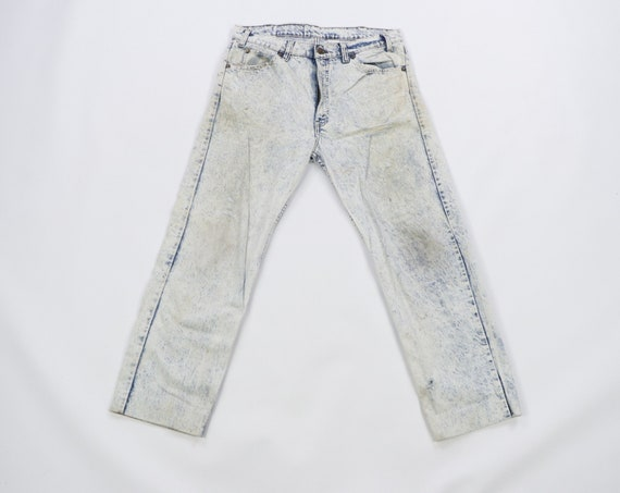 90s Streetwear Distressed Faded Straight Leg Acid